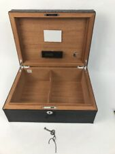 ATOLL Black Croc Leather Humidor W Caliber 3 Control By Western