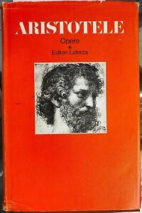 (Filosofia) ARISTOTELE - OPERE VOL. IV - Laterza 1973