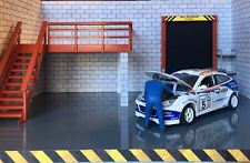 1/18 Garage Diorama Base With Upper Level