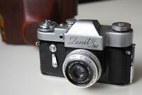 Zenit 3m 35mm SLR Soviet Russian Film Camera with Industar 50mm f3.5