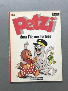 PETZI n°8 Petzi dans l'île aux tortues HANSEN 1986 Casterman