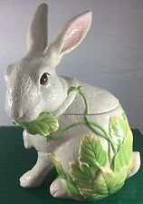 Fitz And Floyd Classics Le Lapin White Bunny Rabbit Cookie Jar Easter