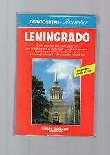 guida de agostini baedeker - leningrado  - altra edizione 1991
