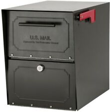 Locking Mailbox Post Mount Mail Package Hopper Steel Box Reinforced Lock Bronze