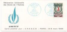 FRANCE 1969.C.P. F.D.C. U.N.E.S.C.O.OBLITERATION:LE 8/3/69 PARIS