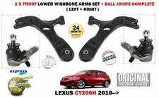 FOR LEXUS CT200H 1.8 HYBRID 2009-> 2X FRONT SUSPENSION WISHBONE ARM + BALL JOINT