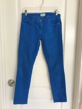 Current/Elliott The Skinny Electric Blue Corduroy Jeans Size 27