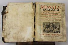 LC-007. ROMAN MISSAL. PIO V. EDIT. NICOLAUM PEZZANA. 1729.