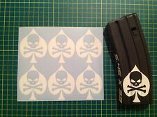 Ace Of spades Death Sticker magazine 6 Pack, All Colors!