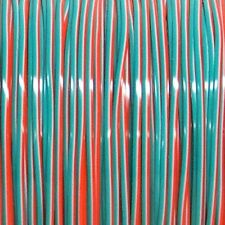 100 YARDS (91m) SPOOL TRI ORANGE WHITE TURQUOISE REXLACE PLASTIC LACING CRAFTS