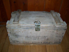 "Vintage Military Ammo Wooden Box Crate 22"" L 12"" H 11""D-Excellent condition"