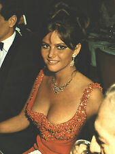 CLAUDIA CARDINALE 1966 ULTRA BUSTY PARTY PHOTO