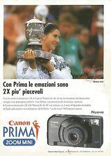 X2638 Canon PRIMA - Monica Seles - Pubblicità 1993 - Advertising