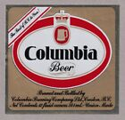 Columbia Beer Label - The Best of B.C. to You!