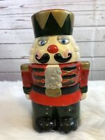Christmas Vintage Hand Painted Nutcracker cookie jar Collectible