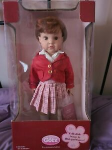 "Gotz Hildegard Gunzel 2007 School Doll 16"" London Girl 176/300 Red Hair"