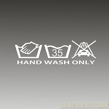hand wash only Aufkleber dub oem sticker the shocker tickethalter restgewinde 66