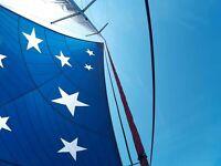 Custom made Cruising Code Zero, Drifter sail