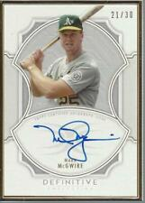 2020 Topps Definitive Framed Autographs #DCFAMM Mark McGwire Auto /30 - NM-MT