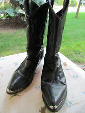 Vintage Men's 12 EE Black Cowboy Boots
