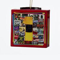 KURT ADLER BEATLES™ 1 COLLAGE ALBUM COVER RETRO RECORD CASE CHRISTMAS ORNAMENT