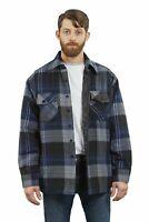 YAGO Men's Plaid Flannel Button Up Casual Shirt Jacket Blue/Navy/2E (S-5XL)
