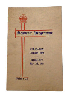 HONLEY Coronation Programme King George VI Queen Elizabeth May 12th 1937
