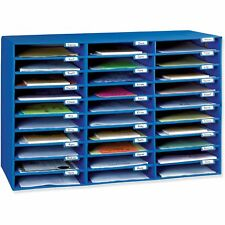 Wall-Mountable Mailbox, 30-Slot Classrooms Office Desktop Drawer Organizer,