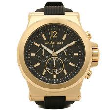 Michael Kors MK8445 Gold Tone Dylan Chronograph Black Dial Rubber Unisex Watch