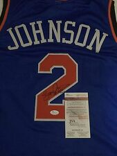 Larry Johnson Signed Custom Knicks Jersey (JSA Authenticated)