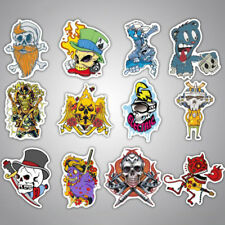 100pcs Horror Halloween Themed Skateboard Stickers Mixed Stickerbomb Luggage