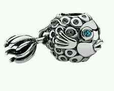 Authentic Pandora Splish Splash Deep Blue Topaz Fish Charm 791108TTP
