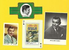 Clark Gable Movie Actor Gone with the Wind Fab Card LOT C It Happened One Night