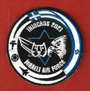 """ISRAEL IDF AIR FORCE.""""INIOCHOS 2021"""" EXERCISE EMBROIDERED HOOK BACK PATCH"""