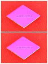 2x RGB Optical Laser Lens Pass Green Pass Red & Reflect Blue 25x25x1.1mm
