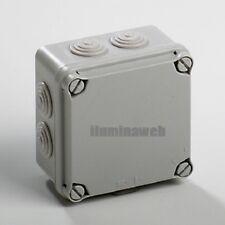 Caja de empalme estanca 100x100 para exteriores, IP65, con conos, IDE Spain