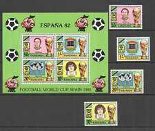 PM031 1987 TANZANIA MARADONA FOOTBALL WORLD CUP SPAIN 82 #197-0 SET+KB MNH