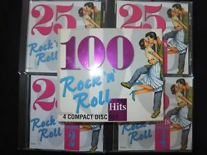 COFFRET 4 CD 100 HITS ROCK N ROLL /