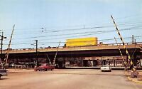Gary Indiana~West End of Toll Road c1950 Pickup Truck~Tractor Trailer~Postcard