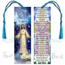 Prayer Psalm 23-Book Card Use as BOOKMARK w/Tassel Jesus Christian Religious ART