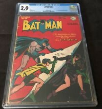 1947 DC Comics BATMAN #42 CGC 2.0 1ST CATWOMAN COVER CLASSIC GOLDEN AGE