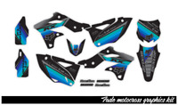 2004-2005 KAWASAKI KXF 250 MOTOCROSS DECAL KX250F GRAPHIC KIT FADE : COOL COLORS
