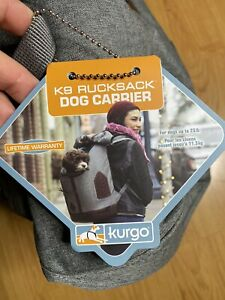 Kurgo Dog Carrier Backpack for Small Dogs & Cats G-Train Pet Backpack Carrier.