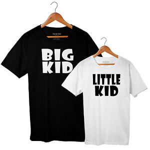 Big Kid, Little Kid - Father Son or Daughter matching T-shirt Set - All Sizes
