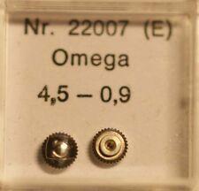 Omega Corona de acero inoxidable Ø 4,5mm de altura 1,5mm stem Ø 0,9 part nº 22007 ~ nos ~