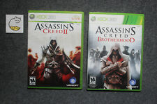 Assassin's Creed 2 II &  Brotherhood Tested (Microsoft Xbox 360, 2009) Complete