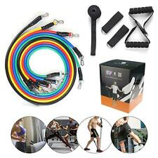 11Pc Resistance Bands Workout Exercise Yoga Crossfit Fitness Training Tube Set