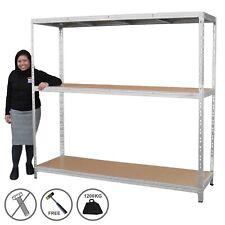 More details for heavy duty racking garage warehouse storage shelving unit steel shelves | 1200kg
