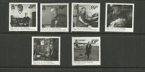 ALDERENY 2014 NEW ISSUE LIFE OF IAN FLEMING SET MNH