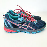 ASICS T684N GEL-Sonoma 2 Teal/Coral/Grey Women's Trail Running Shoes Size US 9.5